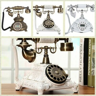 3 Types Vintage Antique Retro Phone Old Fashion Rotary Telephone Home