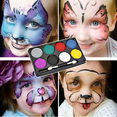 8 Colors Non-toxic Face Body Paints Palette for Kids Adult Christmas Make Up AU