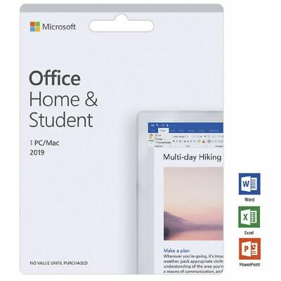 Microsoft Office Home and Student 2019 1 PC/Mac Card