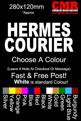 hermes courier delivery sticker decal car van truck lorry funny