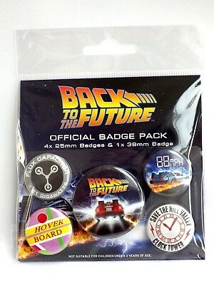 Back To the FUTUR official Badge pack Cadeau Fan Fun Pack 5 badge neuf