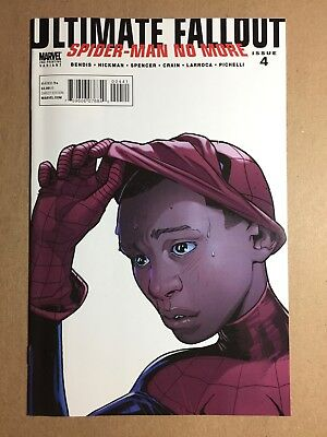 Ultimate Fallout #4 Second Printing Variant Cover 1St Miles Morales Key Vf/nm