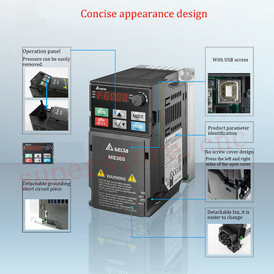 Updated 3.7KW 5HP AC220V Delta Variable Frequency Drive 17A 600HZ VFD CNC Router