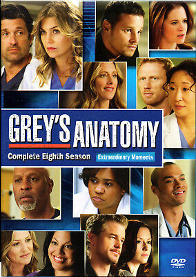 Grey's Anatomy: Complete Eighth Season DVD - Ellen Pompeo  - REGION 3 - SEALED!!