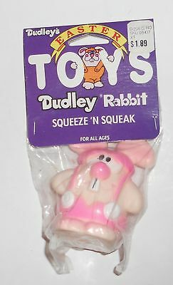Vintage EASTER Bunny Dudley Squeeze Toy Advertising Figure Rabbit Old MIP