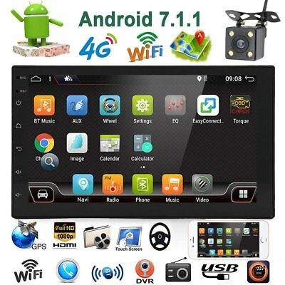 Android 7.1 Autoradio Doppel 2Din Mit Navigation Gps Rds Wifi 4G Usb Bluetooth 7