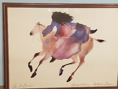 "Signed Carol Griggs ""Ride Far Boy"" Framed Art"