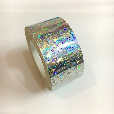 Silver Holographic Crystal  Vinyl Tape 1 inch x 25 feet