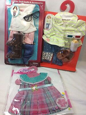 """Lot Of 18"""" Inch Doll Clothes Outfits Shoes Fits Our Generation /American Girl"""