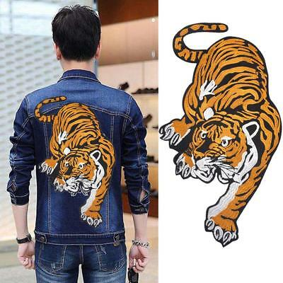 Big Tiger Jeans Jacket Embroidered Applique Sew Iron on Cloth Patch Badge Decor
