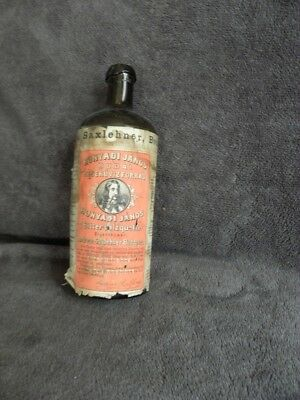 ANTIQUE BOTTLE primitive Century glass Saxlehner Bitterquelle Mineral Spring