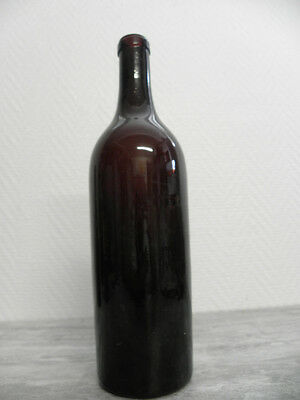 1 ANTIQUE BOTTLE  win wine Century glass vintage french Blown glass hand retro