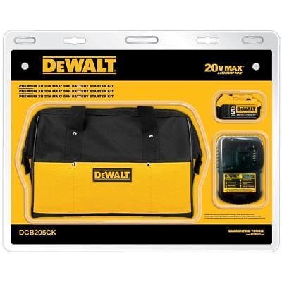 Dewalt DCB205CK 20-Volt MAX 5.0Ah Lithium-Ion Battery and Charger Kit with Bag