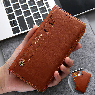 For Samsung Galaxy S9/S9 Plus Flip Wallet Case Magnetic Leather Card Slots Cover
