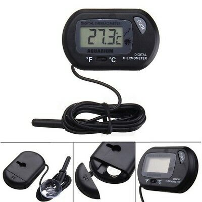 LCD Digital Probe Aquarium Fish Tank Vivarium Reptile Lizard Freezer Thermometer