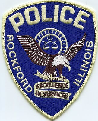 ROCKFORD ILLINOIS IL Excellence In Services POLICE PATCH