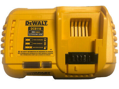 NEW DEWALT DCB118 20V / 60V 20 Volt MAX Li-Ion FLEXVOLT Fan-Cooled Fast Charger