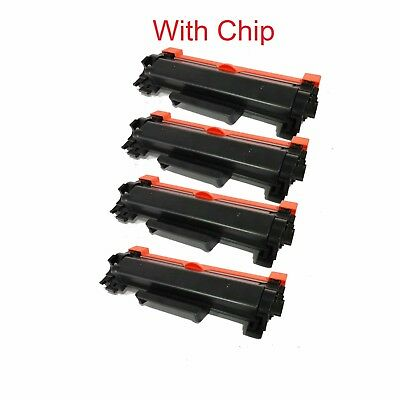 4 Packs With Chip High Yield TN760 NON-OEM Toner For Brother DCP-L2550 TN730
