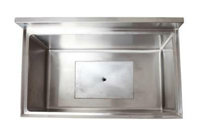 """18"""" x 48"""" Stainless Steel Ice Chest with Cold Plate"""