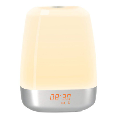 Wake Up Light Alarm Clock 5 Natural Sounds LED Night Light Touch Sensor Lamp