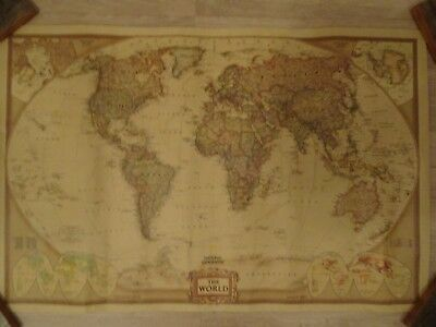 National Geographic World Map Poster 72cm X 48cm Scale 1 36 384 000