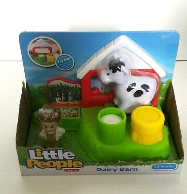 New Fisher-Price Little People Dairy Barn Farm Kid Toddler Pretend Toy