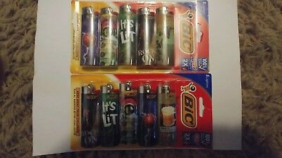 2 (5) packs of Bic Full Size Designs lighters