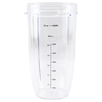 32 oz Colossal Cup Replacement for NutriBullet 600W 900W NB-101B NB-101S NB-201