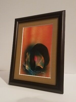Original Signed framed and matted Cosmic Butterfly Spray Art by Jason Girard.