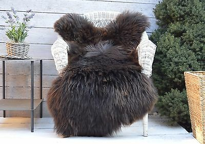 Unique Sheepskin Rug, Throw, Blanket, Rare Breed Brown Coloured big size XXL