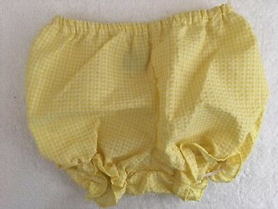 Vintage Yellow Check Diaper Cover 6 To 9 Months
