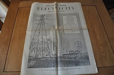 Times Electricity Supplement December 1953 Vintage and Very Rare The Times