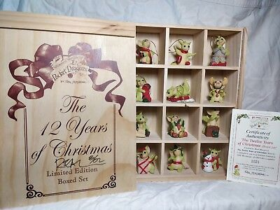 """**SIGNED WITH ARTWORK BY REAL** """"Twelve Years Of Christmas"""" FULL BOX SET *MINT*"""