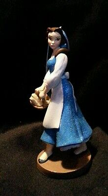 Disney Beauty and the Beast Belle in Blue dress Christmas Ornament glittering