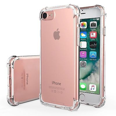 For iPhone 8 PLUS Case Shock Proof Crystal Clear Soft Silicone Bumper Cover Slim