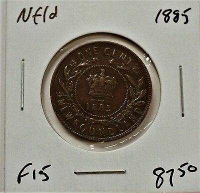 Newfoundland Large cent 1885 F15. 679