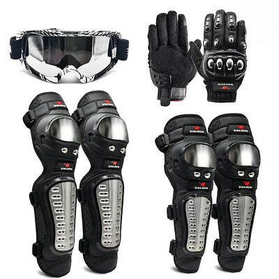 Motorcycle Knee Braces Shin Guards Motocross Glove Body Armor Goggles Protectors