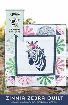 Zinnia Zebra Quilt & Pillow Pattern