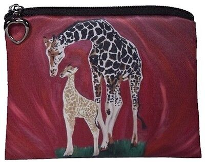 Giraffe Change Purse, Coin Purse - From my Original Oil Painting, Full Circle