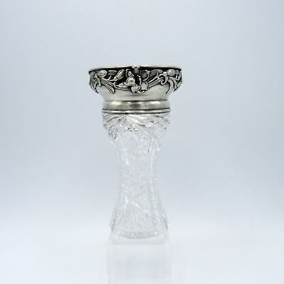 Antique Cut Glass and Gorham Sterling Rim Vase
