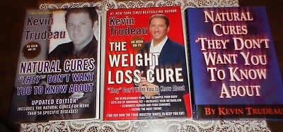 Lot of 3 Kevin Trudeau HCDJ Natural Cures & Updated Edition & Weight Loss Cure