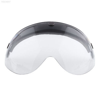 6C9A Pilot-Style Motorcycle Helmet 3-Snap Face Visor lens Wind Shield Clear