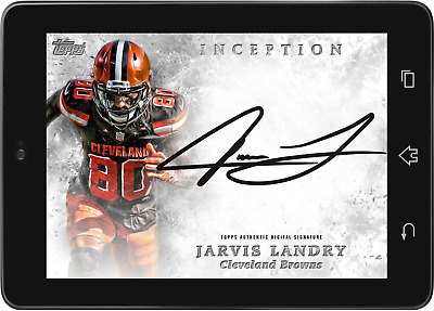 Topps HUDDLE Jarvis Landry Silver Signature INCEPTION 2019 [DIGITAL CARD]