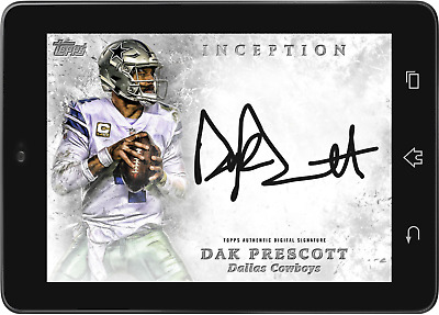 Topps HUDDLE Dak Prescott Silver Signature INCEPTION 2019 [DIGITAL CARD]