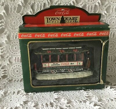 Coca Cola Town Square Collection Ol Number Seven Train Car Holiday Christmas