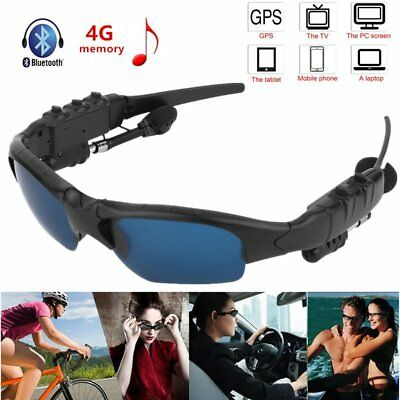 Wireless Bluetooth Sunglasses Polarized Stereo Headset Headphone MP3 Player Lot