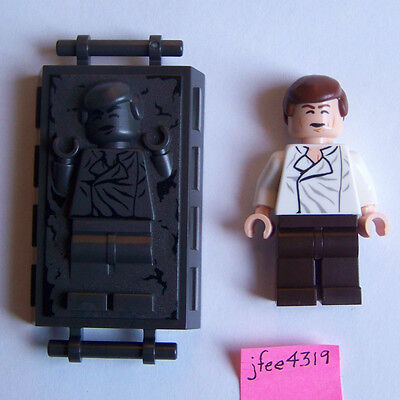 LEGO STAR WARS MINIFIGURE HAN SOLO WITH BLASTER CUFFS /& CARBONITE 75137  75174