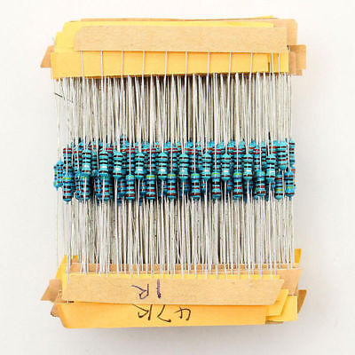 500pcs 50 Values 1/4w 1% Metal Film Resistor Assortment Kit Set Mix 1-10M ohm