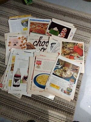Lot of 100 Food Advertisements From 1930s - 1960s  Some Famous Illustrators - #3