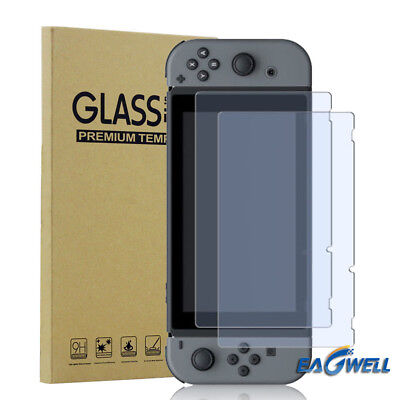 2X For Nintendo Switch 2017 Premium Tempered Glass Screen Protector Guard Shield